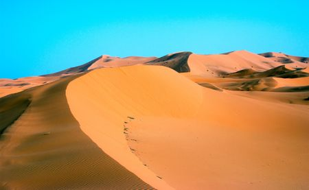 erg: Sand Dune at Erg Chebbi in Morocco