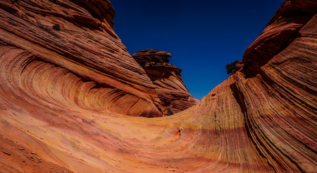 Colorful stone wave in South Coyote Buttes, Utah and Arizona, USA