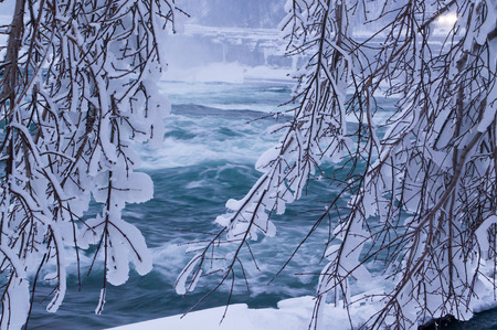niagara falls city: Niagara review in winter Stock Photo