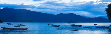 Lugu Lake evening landscape scenery view