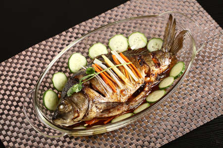 Stewed crucian carp