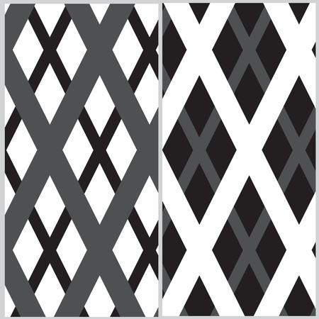 grille: Set of two grille pattern Illustration