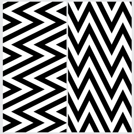 sloping: Set of two sloping zigzag line pattern Illustration