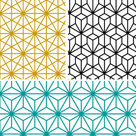 abstract modern geometric hexagon pattern in tree style Vettoriali