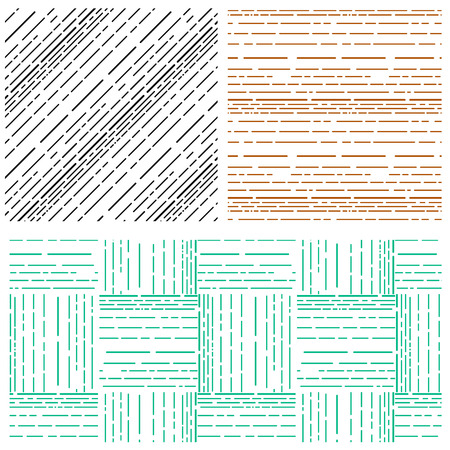 arrange: Set of Abstract arrange various line pattern background