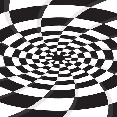 checkerboard: abstract black hole on checkerboard vector background