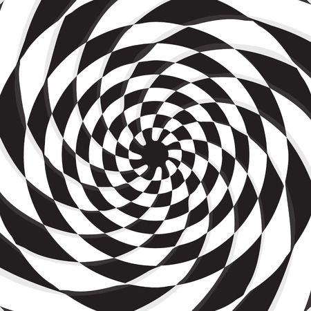 checkerboard: abstract black hole on twirl checkerboard vector background