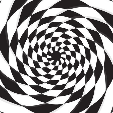Abstrakten schwarzen Loch auf twirl Schachbrett Vektor-Hintergrund Standard-Bild - 38962193