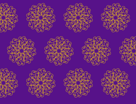 abstract swirl: Abstract swirl Damask pattern vector background