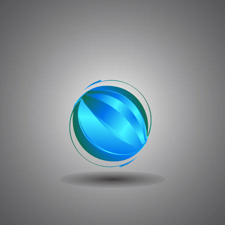 bussiness card: techno globe,internet, technology world icon, vector