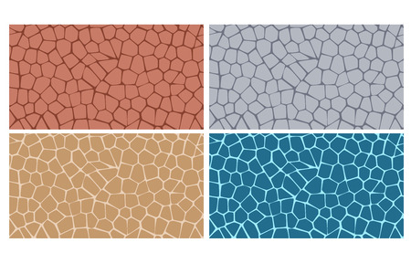 Modern stylish texture of stone plate in four style Stock Illustratie