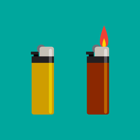 Long Lighters icon in flat style, vector illustration.
