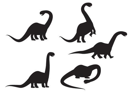pettifogs: Silhouette of Brontosaurus dinosaur vector illustration
