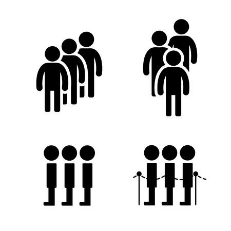 fila de espera: S�mbolo de la cola en el estilo plano. ilustraci�n vectorial