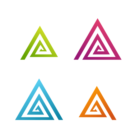 Business Abstract spiral triangle icon