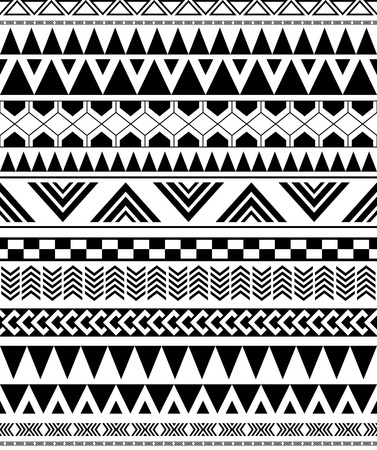 black american: geometric seamless pattern in Native Americans Indian style