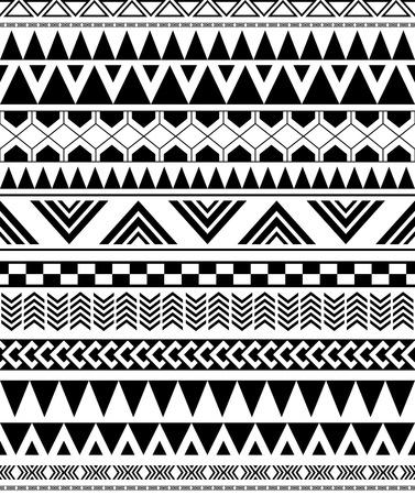 indische muster: geometrische nahtlose Muster in Native Americans indischen Stil