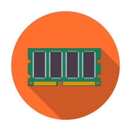 ddr: Mini DDR Ram icon with long shadow