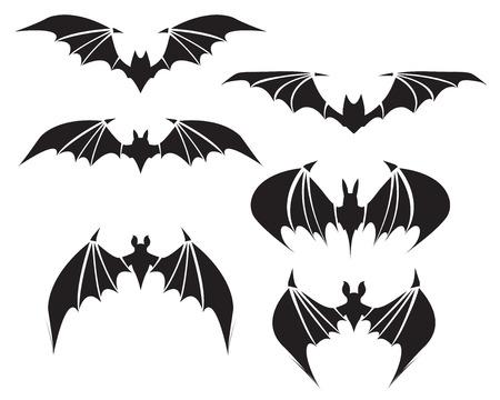 Symbol of bat with big wings, vector Stock Illustratie
