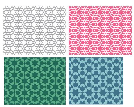 Seamless star pattern in modern korean style, vector