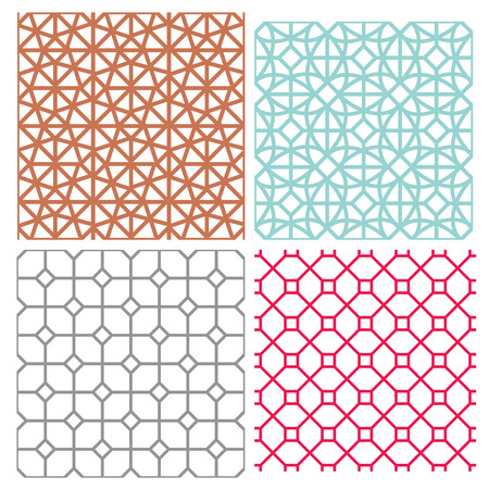 Modern mesh seamless pattern in geometric style, vector