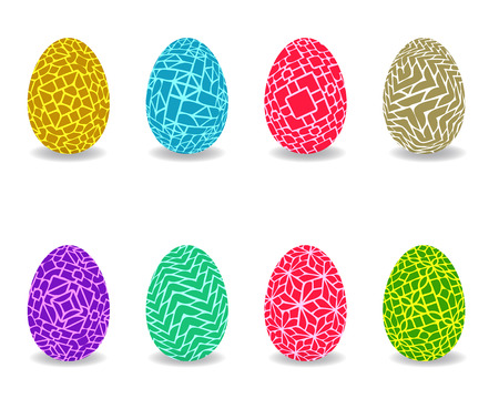 Set of easter egg with pattern