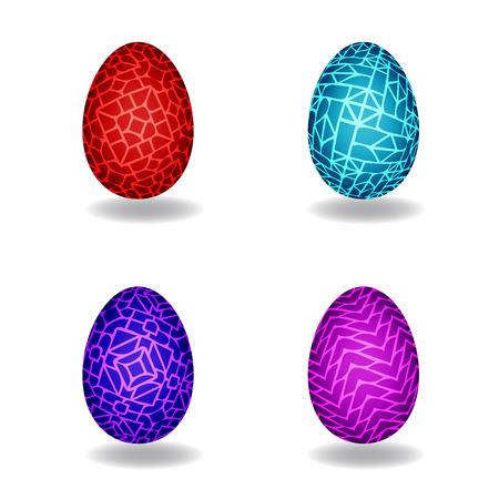 dinosaur egg: Set of Magic egg, vector object Illustration