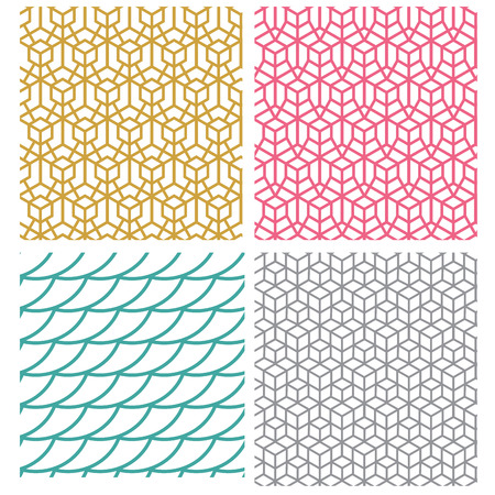 Geometric seamless pattern in hexagon concept, vector