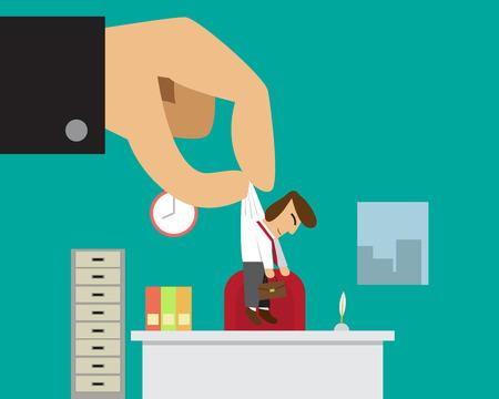 Homme d'affaires obtenir nouvel emploi ou promu de son patron, vecteur Banque d'images - 61109709
