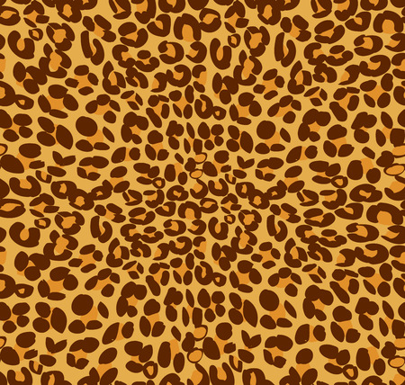 leopard print: Leopard print and skin background, vector