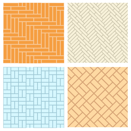 Naadloze bakstenen patroon voor vloer en wand, vector Stock Illustratie