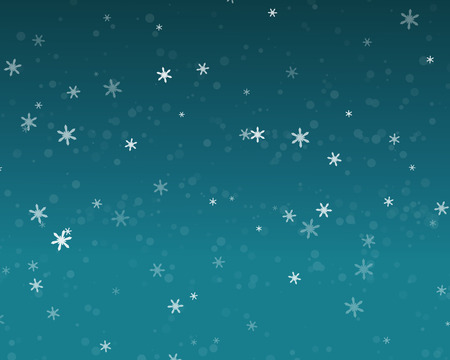 torrential: Snow fall in blue sky, Christmas night background, vector Illustration