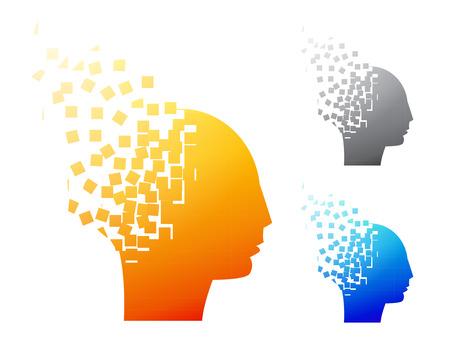 symbol: Abstract brain logo or Alzheimer symbol, vector
