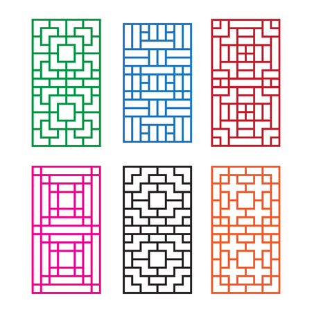 Korean ornament for door, window, wall and fence,