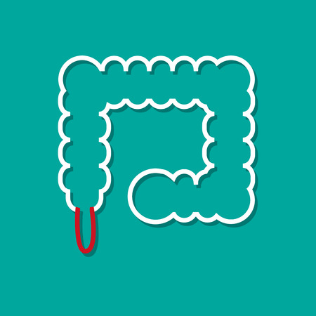 appendix: Inflamed appendix in flat style Illustration