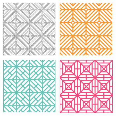 Naadloze geometrische lijnenpatroon in Koreaanse stijl Stock Illustratie