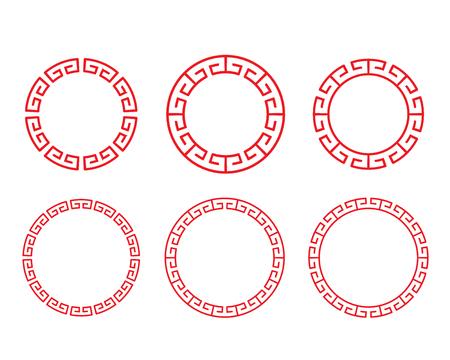 Cornice classica cinese con cornice rossa e portafoto