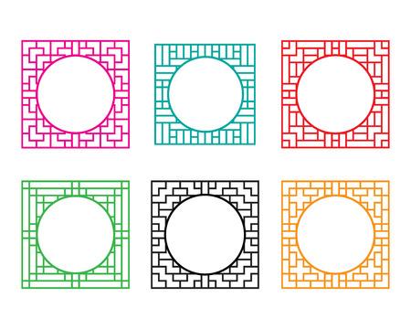 Vierkant raamkozijn met cirkel gat in het midden
