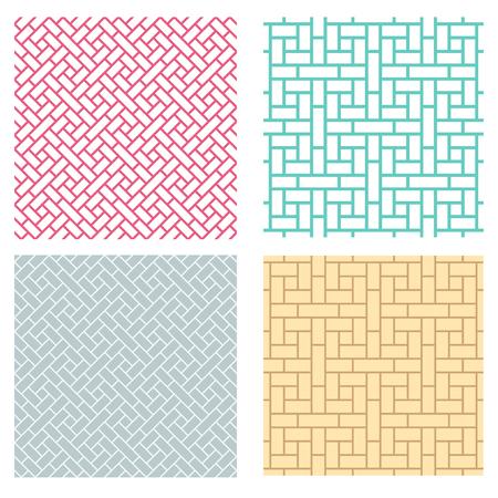 中国風のシームレスな幾何学的な線パターン