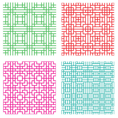 pave: Seamless geometric line pattern in Japanese style, vector