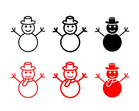 Set Of Snowman Icons And Symbol Vector Design Royalty Free Cliparts
