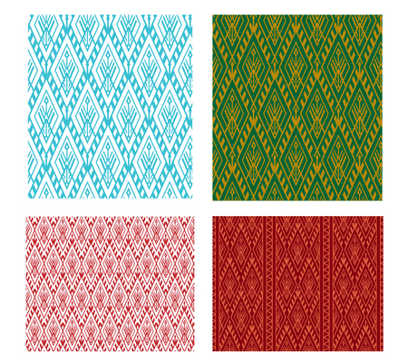 Seamless Thai tribal pattern in vector design