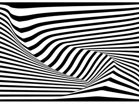 Abstract 3D stripe line  background, vector design Ilustração