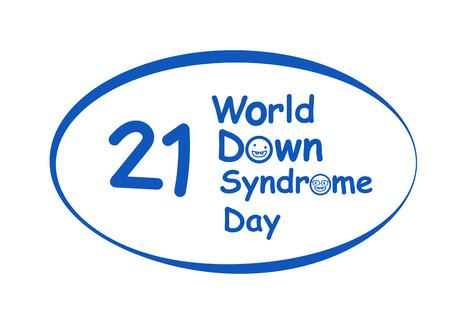 World down syndrome day in vector art design Stock Illustratie