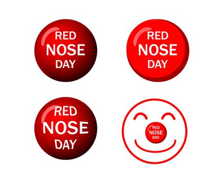 Set of Red nose icons in vector art design Illusztráció