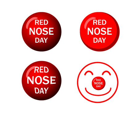 Set of Red nose icons in vector art design Stock Illustratie