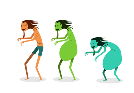 Japanese and Thai Hungry ghost in vector art design Illustration