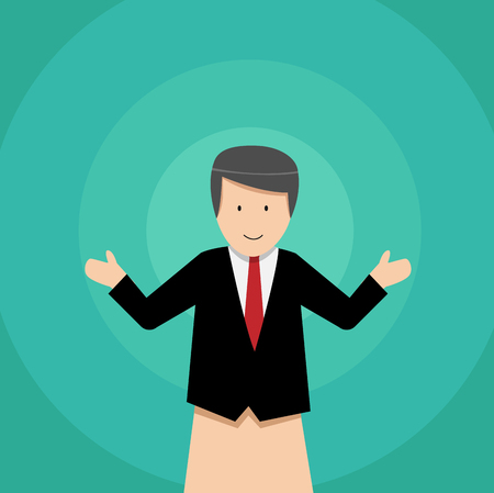 Businessman puppet dolls, vector art design Illustration