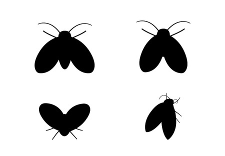 Drain Fly icons in silhouette style, vector art design
