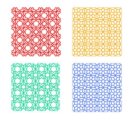 Seamless islamic pattern, geometric vector art design